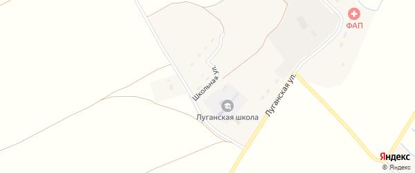 Школьная улица на карте Игрицкого села с номерами домов