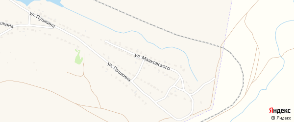 Улица Маяковского на карте Фокино с номерами домов