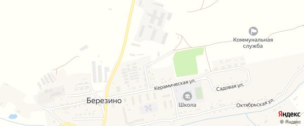 Керамическая улица на карте деревни Березино с номерами домов