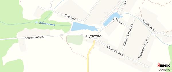Советская улица на карте села Пупково с номерами домов