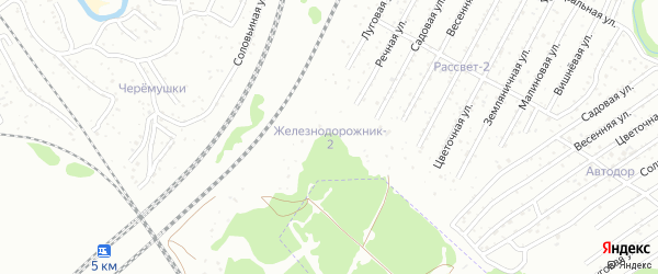 Территория со Железнодорожник на карте Брянска с номерами домов