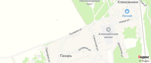 Полевая улица на карте поселка Пахаря с номерами домов