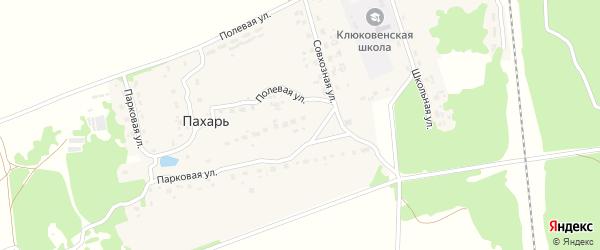 Совхозная улица на карте поселка Пахаря с номерами домов