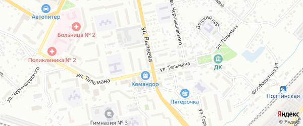 Улица Рылеева на карте Брянска с номерами домов