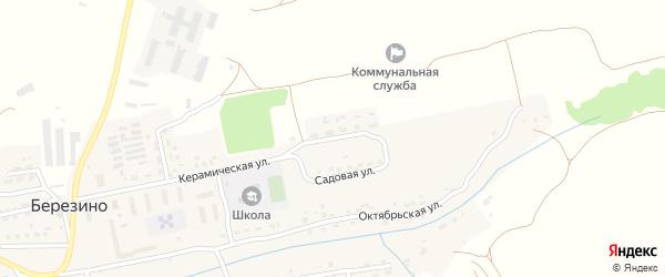 Садовая улица на карте деревни Березино с номерами домов