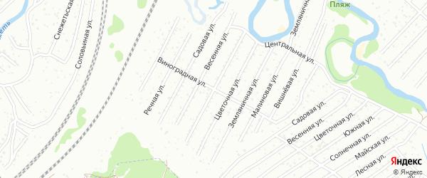 Территория СНТ РАССВЕТ на карте Брянска с номерами домов