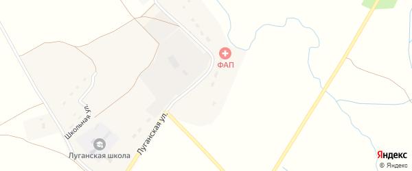 Луганская улица на карте Игрицкого села с номерами домов