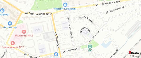 Переулок Чернышевского на карте Брянска с номерами домов