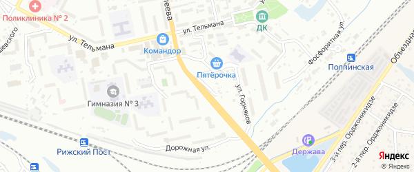 5-й Дорожный въезд на карте Брянска с номерами домов