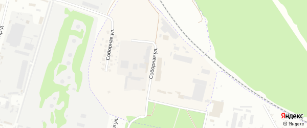 Соборная улица на карте поселка Свеня с номерами домов