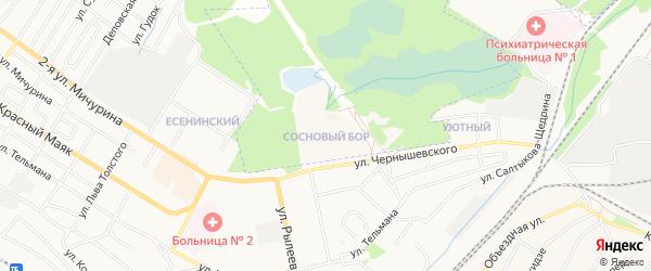 Территория сдт Сосновый Бор на карте Брянска с номерами домов