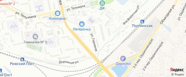Улица Горняков на карте Брянска с номерами домов