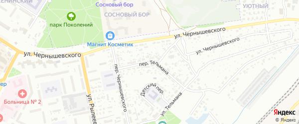 Переулок Тельмана на карте Брянска с номерами домов