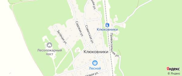 Советская улица на карте поселка Клюковники с номерами домов