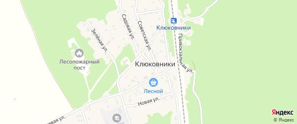 Почтовый переулок на карте поселка Клюковники с номерами домов