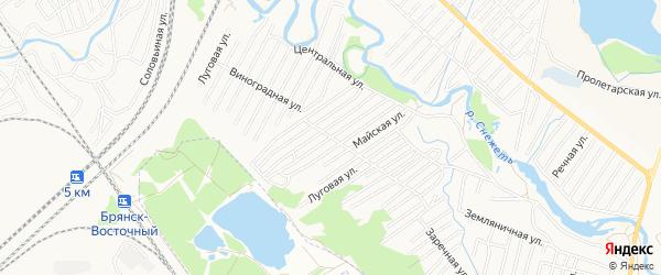 Территория СО Автодор на карте Брянска с номерами домов