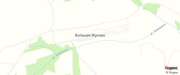 Карта села Большей Жукова в Брянской области с улицами и номерами домов
