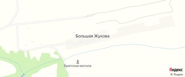 Территория сдт Строитель-3 на карте села Большей Жукова с номерами домов