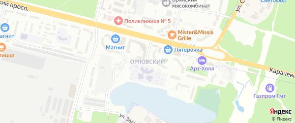 Территория ГО МКР Орловский на карте Брянска с номерами домов