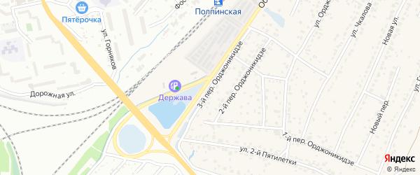 Переулок 3-й Орджоникидзе на карте поселка Большое Полпино с номерами домов