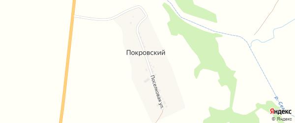 Поселковая улица на карте Покровского поселка с номерами домов