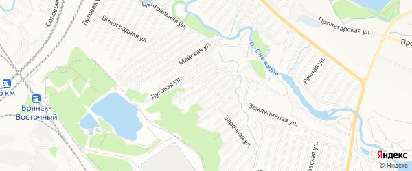 Территория СО Автодорожник на карте Брянска с номерами домов