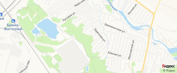 Территория СО Заря на карте Брянска с номерами домов