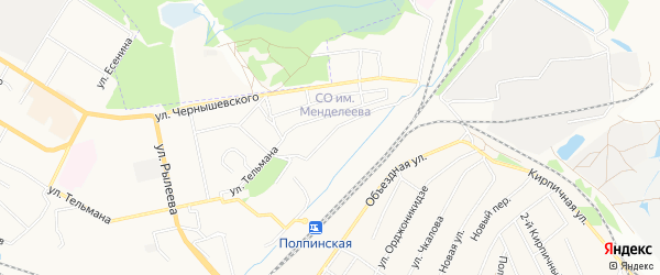 Территория ГО N7 по ул Салтыкова-Щедрина на карте Брянска с номерами домов