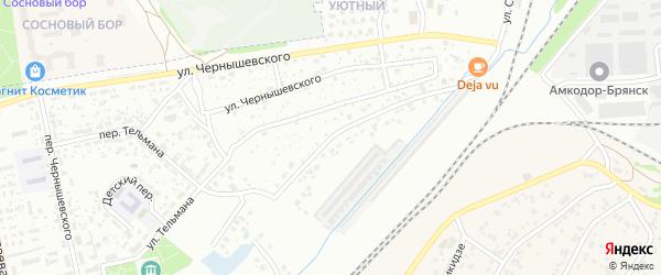 Улица Салтыкова-Щедрина на карте Брянска с номерами домов