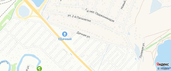 Дачная улица на карте поселка Большое Полпино с номерами домов