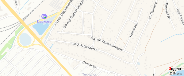 Переулок 1-й Орджоникидзе на карте поселка Большое Полпино с номерами домов