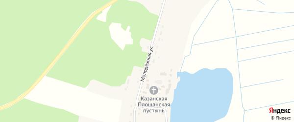 Молодежная улица на карте поселка Коммуны с номерами домов