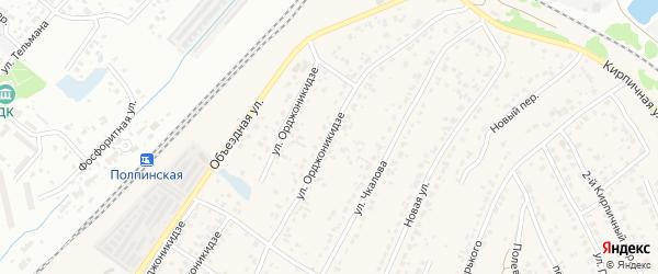 Улица Орджоникидзе на карте поселка Большое Полпино с номерами домов
