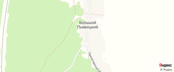 Пролетарская улица на карте Большого Пьявицкого поселка с номерами домов