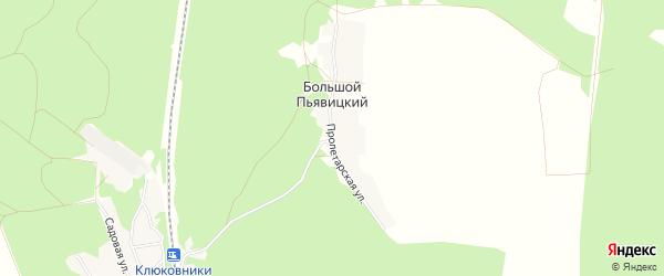 Карта Большого Пьявицкого поселка в Брянской области с улицами и номерами домов