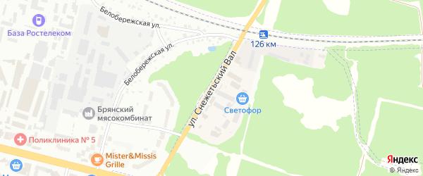 Улица Снежетьский вал на карте Брянска с номерами домов