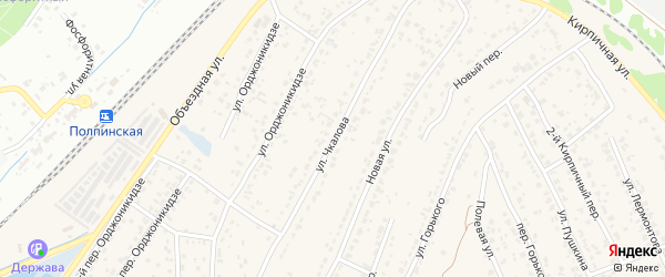 Улица Чкалова на карте поселка Большое Полпино с номерами домов