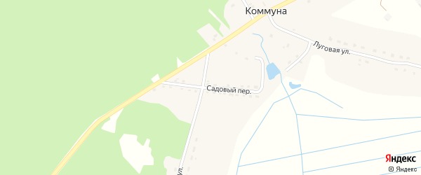 Садовый переулок на карте поселка Коммуны с номерами домов