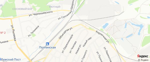 Территория ГО N10 по ул Орджоникидзе на карте Брянска с номерами домов