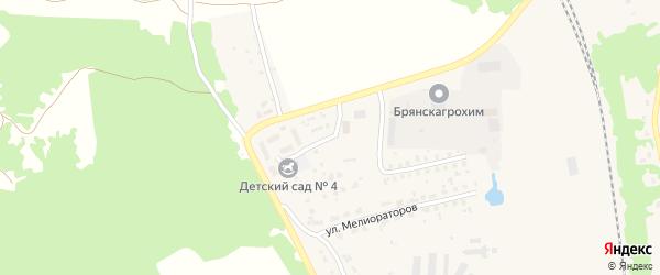 Переулок Мелиораторов на карте поселка Навли с номерами домов
