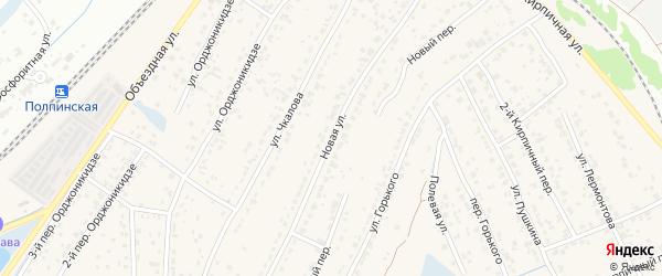 Новая улица на карте поселка Большое Полпино с номерами домов