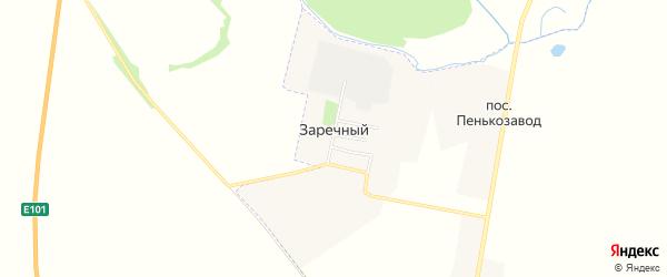 Карта Заречного поселка в Брянской области с улицами и номерами домов