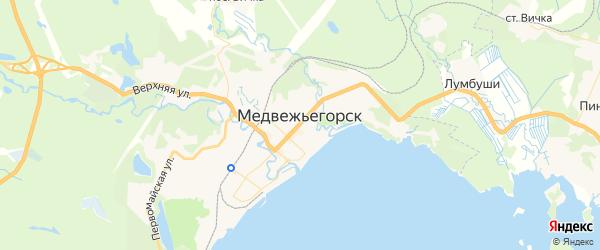 Карта Медвежьегорска с районами, улицами и номерами домов