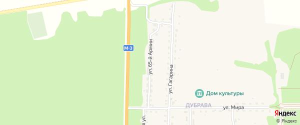 Улица 65 Армии на карте Севска с номерами домов