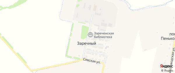 Рабочая улица на карте Заречного поселка с номерами домов