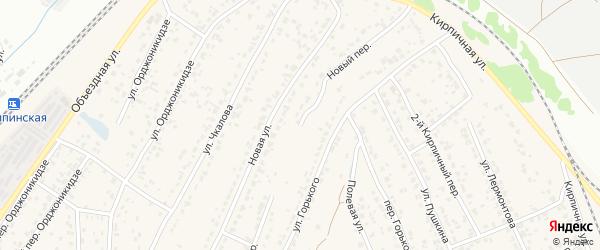 Новый переулок на карте поселка Большое Полпино с номерами домов