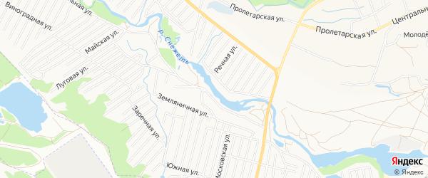 Территория СО Снежеть на карте Брянска с номерами домов