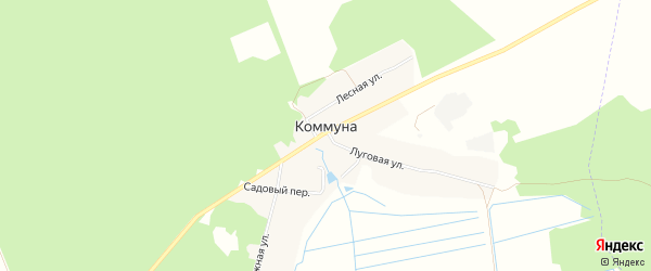 Карта поселка Коммуны в Брянской области с улицами и номерами домов