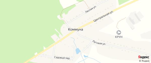 Октябрьская улица на карте поселка Коммуны с номерами домов
