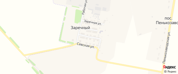 Профсоюзная улица на карте Заречного поселка с номерами домов